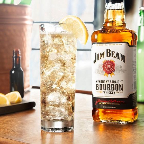 Jim Beam 174 Amp Ginger Highball Recipe Bourbon Mixed Drink